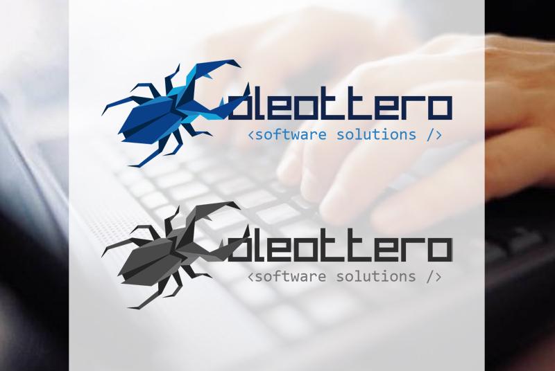 Creazione logo e biglietto per Coleottero software solutions