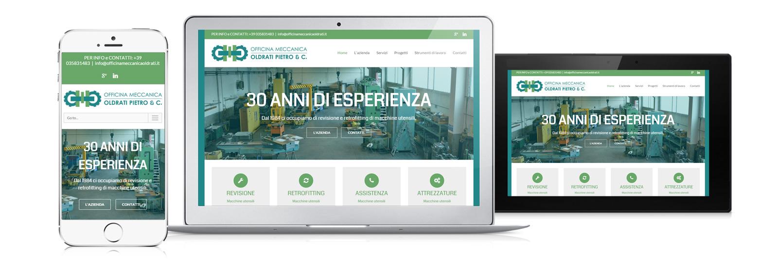 Creazione sito Officina Meccanica Oldrati